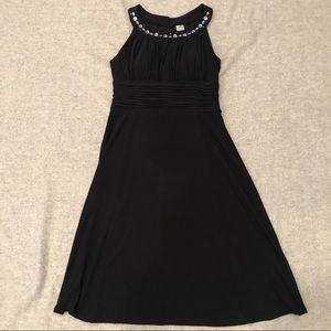 Sangria Keyhole Embellished A-Line Dress